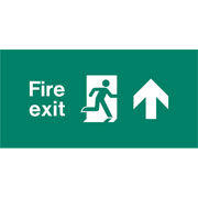 Emergency Light Legend Fire Exit Up Pack of 10 EL436