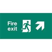 Emergency Light Legend Fire Exit Up Right Pack of 10 EL438