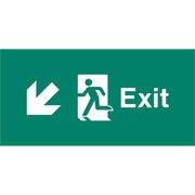 Emergency Light Legend Exit Down Left Pack of 10 EL443