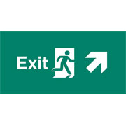 Emergency Light Legend Exit Ahead Pack of 10 EL449