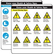 Hazard Warning Signs Pack of 10 PG04