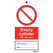 Empty Cylinder Labels Pack of 10 TIE010