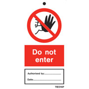 Do Not Enter Labels Pack of 10 TIE014