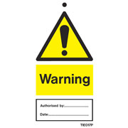 Warning Labels Pack of 10 TIE017
