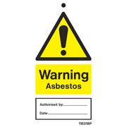 Warning Asbestos Labels Pack of 10 TIE018