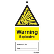 Warning Explosive Labels Pack of 10 TIE019