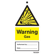 Warning Gas Labels Pack of 10 TIE020