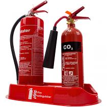 Double extinguisher plinth