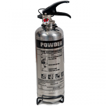 Chrome 1kg powder fire extinguisher