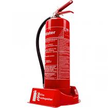 Fire extinguisher plinth