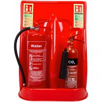 Economy double extinguisher stand