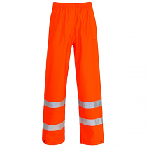 Storm Proof Orange Trousers - Ankle Band