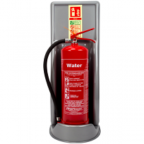 Silver extinguisher stand