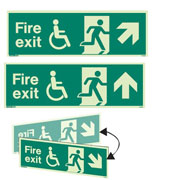 Wheelchair Fire Exit Signs