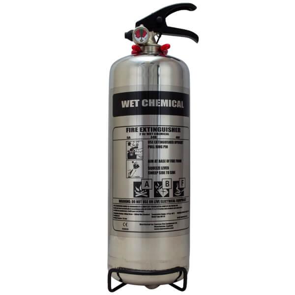 Chrome 2 litre wet chemical extinguisher