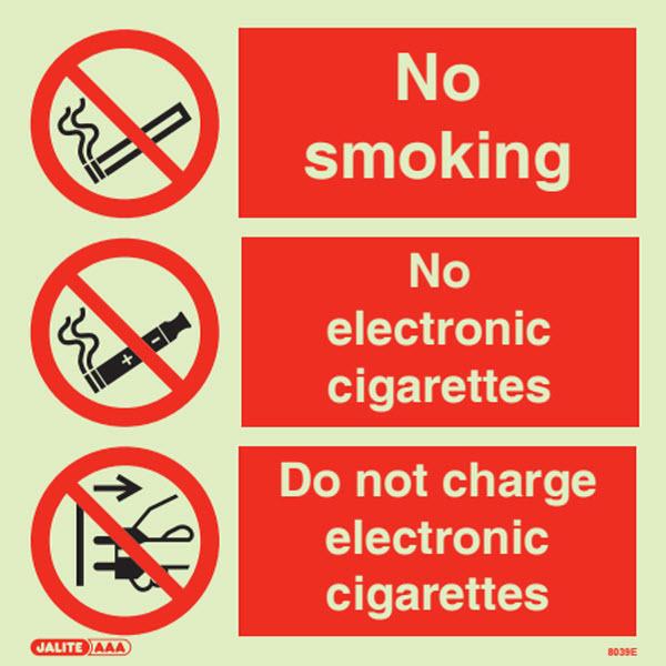 No Smoking Or Charging 8039