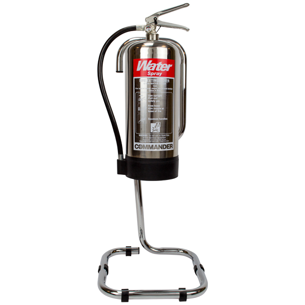 Chrome fire extinguisher stand