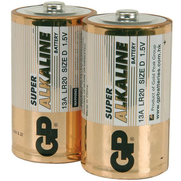 D-size long life batteries x 4