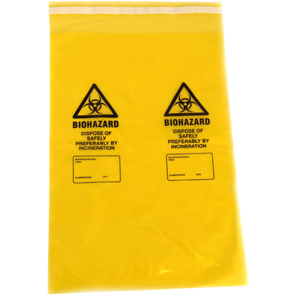 Yellow Clinical Waste Bag