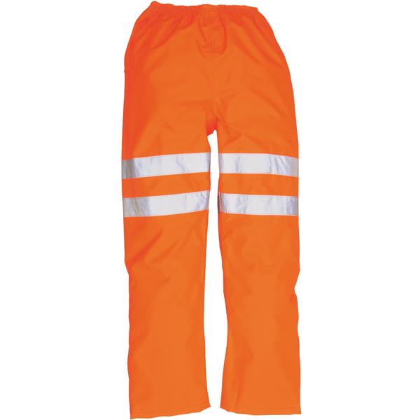Weatherproof Hi-Vis Orange Trousers - Knee Band