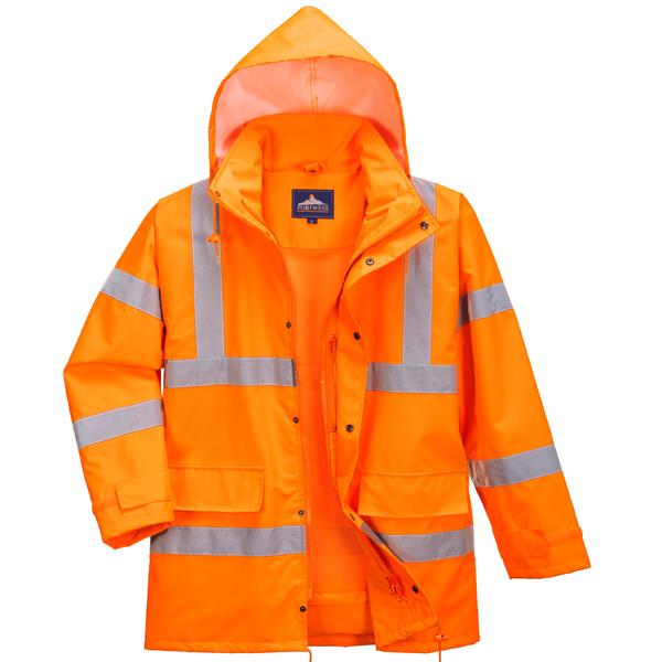 Heavy Duty Weatherproof Orange Jacket