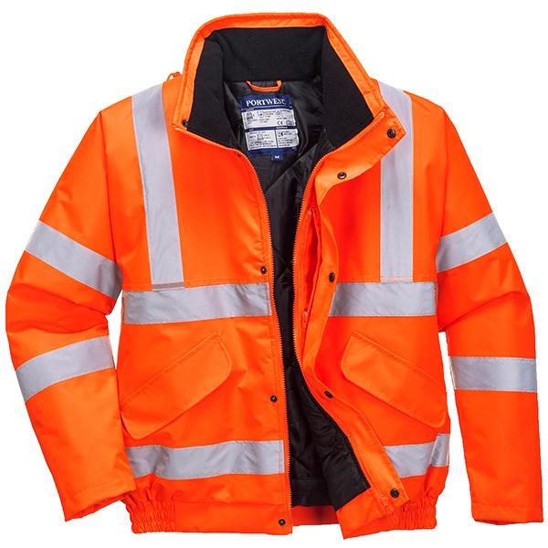 Hi-Vis Orange Bomber Jacket