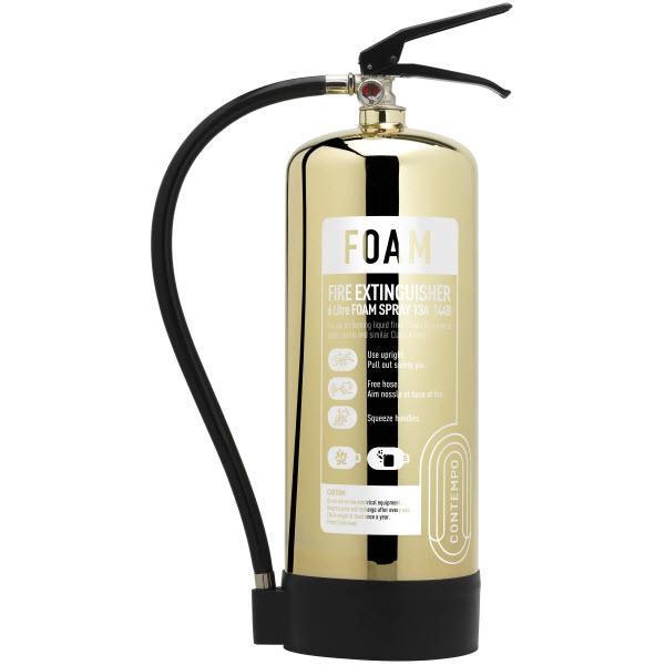 Polished Gold 6ltr Foam Extinguisher