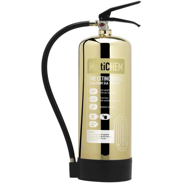 Polished Gold 6ltr MultiChem Extinguisher
