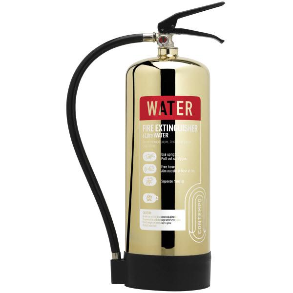 Polished Gold 6ltr Water Extinguisher
