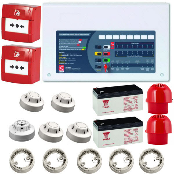 2 Zone Fire Alarm Kit