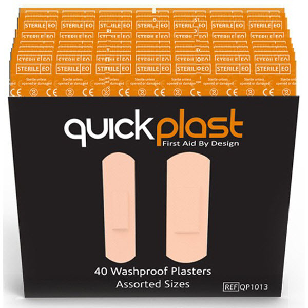 Quick Plast Washproof Plasters pack of 40