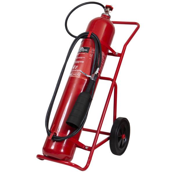 30kg CO2 wheeled extinguisher
