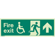 Wheelchair Fire Exit Up 4031