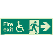 Wheelchair Fire Exit Right 4034