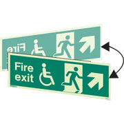 Hanging Wheelchair Fire Exit Right Up 4044