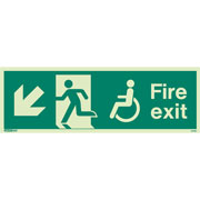 Wheelchair Fire Exit Left Down 4046