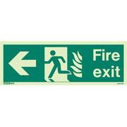 NHS Fire Exit Left 430HTM