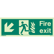 NHS Fire Exit Down Left 433HTM