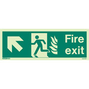 NHS Fire Exit Up Left 434HTM