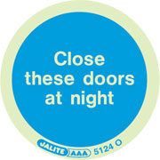 Close These Doors At Night pack of 10 5124
