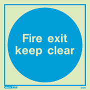 Fire exit keep clear 5257