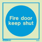 Fire door keep shut sign 5421