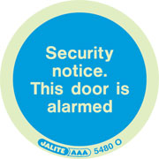 Security Notice Door Alarmed Pack of 10 5480