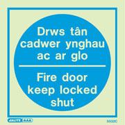 Drws Tan Cadwer Ynghau Ac Ar Glo 5532