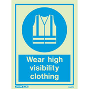 Wear High Visibility Clothing 5567