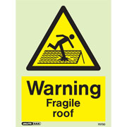 Warning Fragile Roof 7073