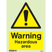 Warning Hazardous Area 7212