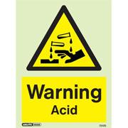 Warning Acid 7217