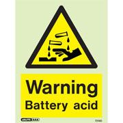 Warning Battery Acid 7218