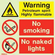 Warning Petroleum Spirit 7389